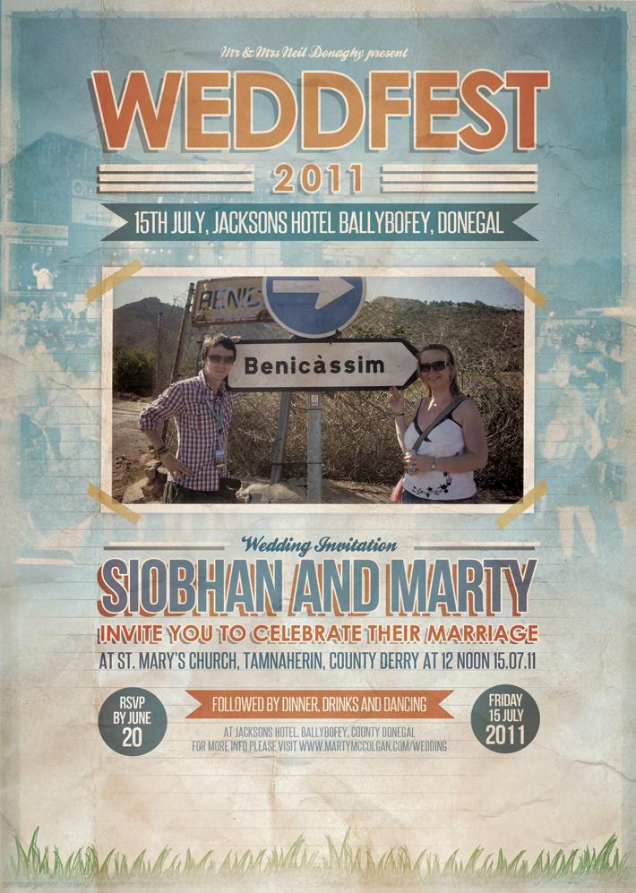 Festival Poster Themed Wedding Invitation | WEDFEST