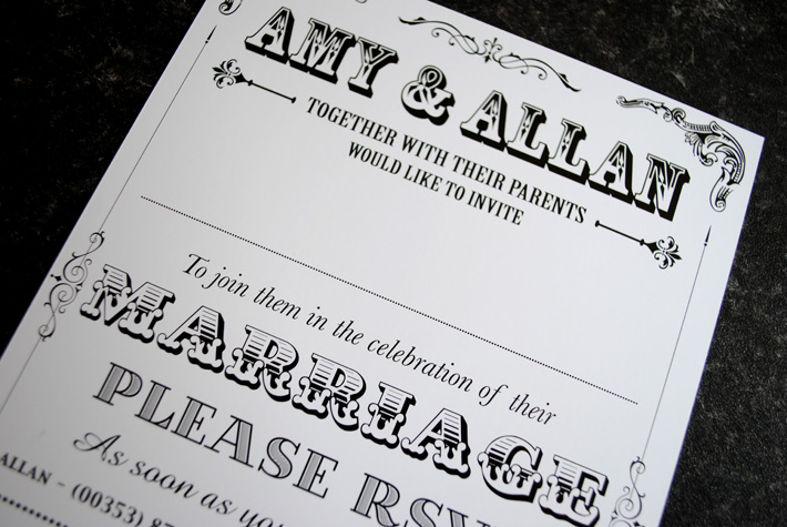festival theme wedding invites | wedfest