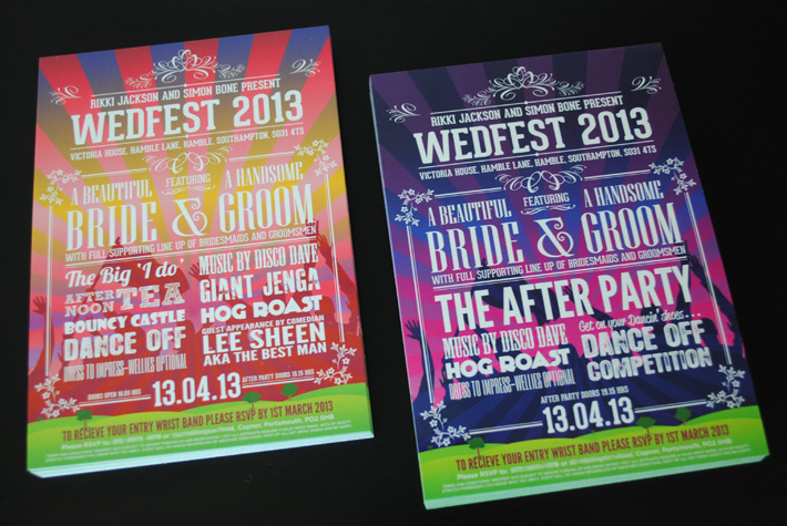 wedfest 2012 festival themed wedding invites