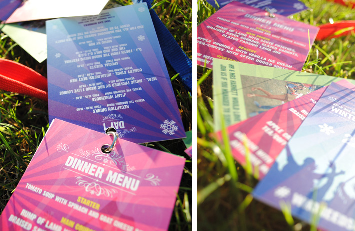 festival themed wedding lanyards | marty mccolgan