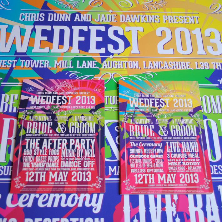 wedding festival invites