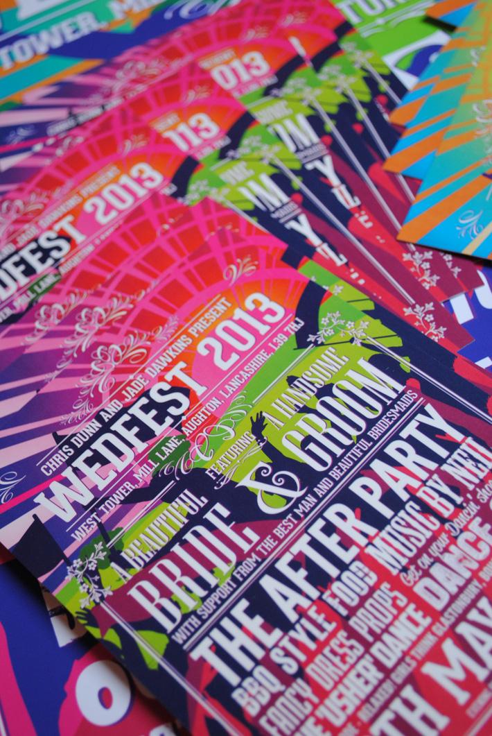 wedding festival poster invitations