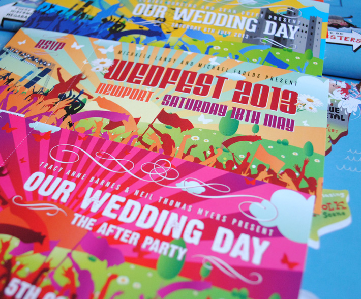 concert themed wedding invites