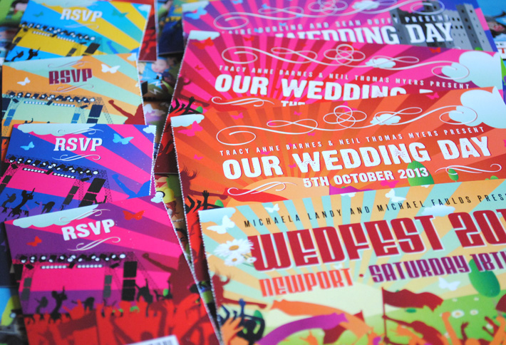 concert ticket stub wedding invites