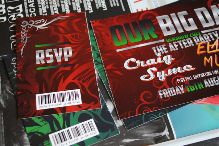 rock concert wedding invite