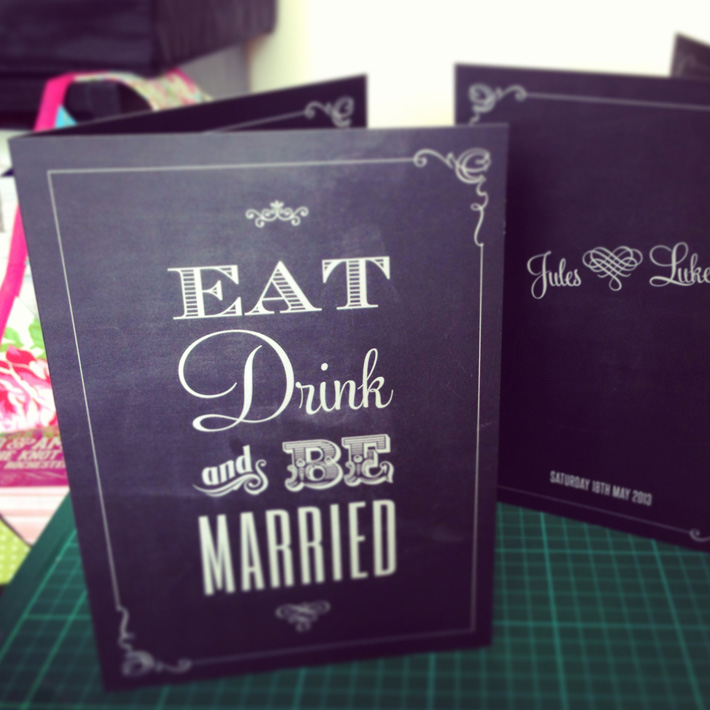 eat drink and be married wedding menu