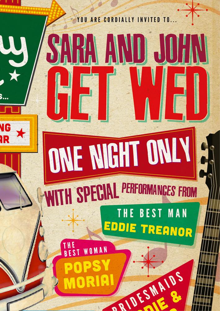 vintage concert Poster Wedding Invitation