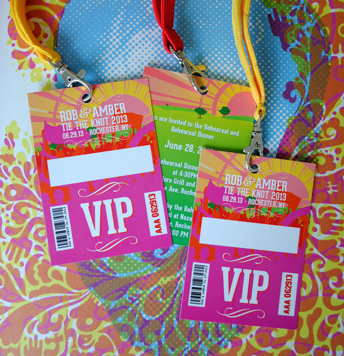 wedding vip lanyards