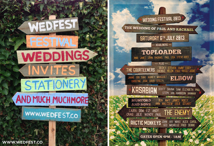 festival wedding vintage wooden sign
