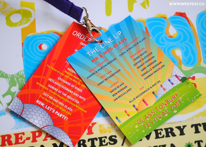glastonbury festival wedding lanyards