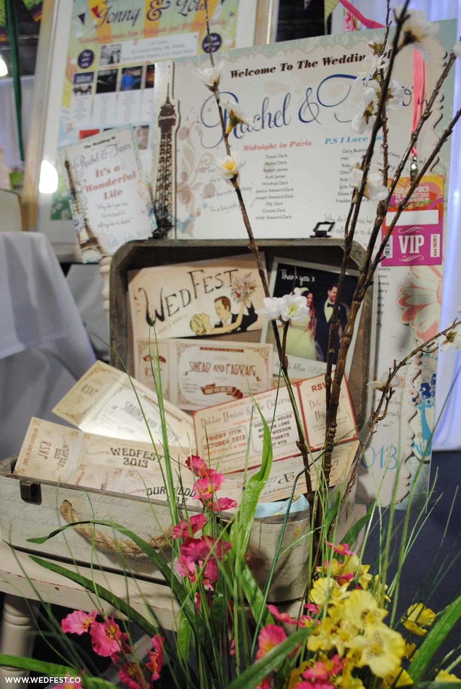vintage chic festival wedding stationery