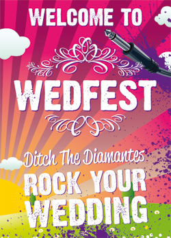 wedfest festival themed wedding stationery