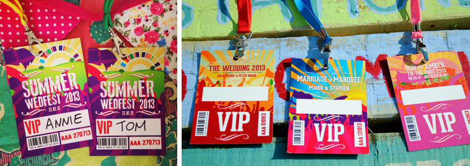 wedfest festival wedding lanyards