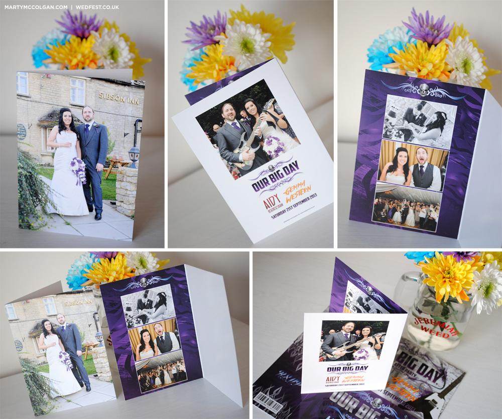 rock n roll wedding thank you cards