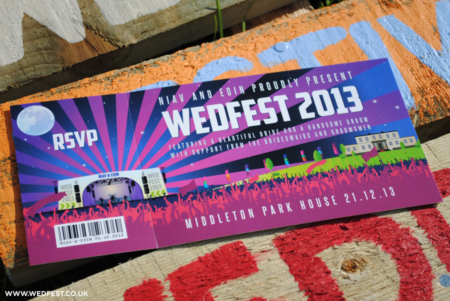 wedfest winter festival wedding invites
