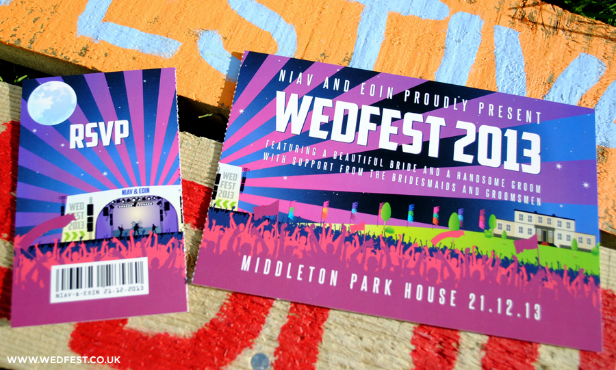winter festival ticket wedding invites