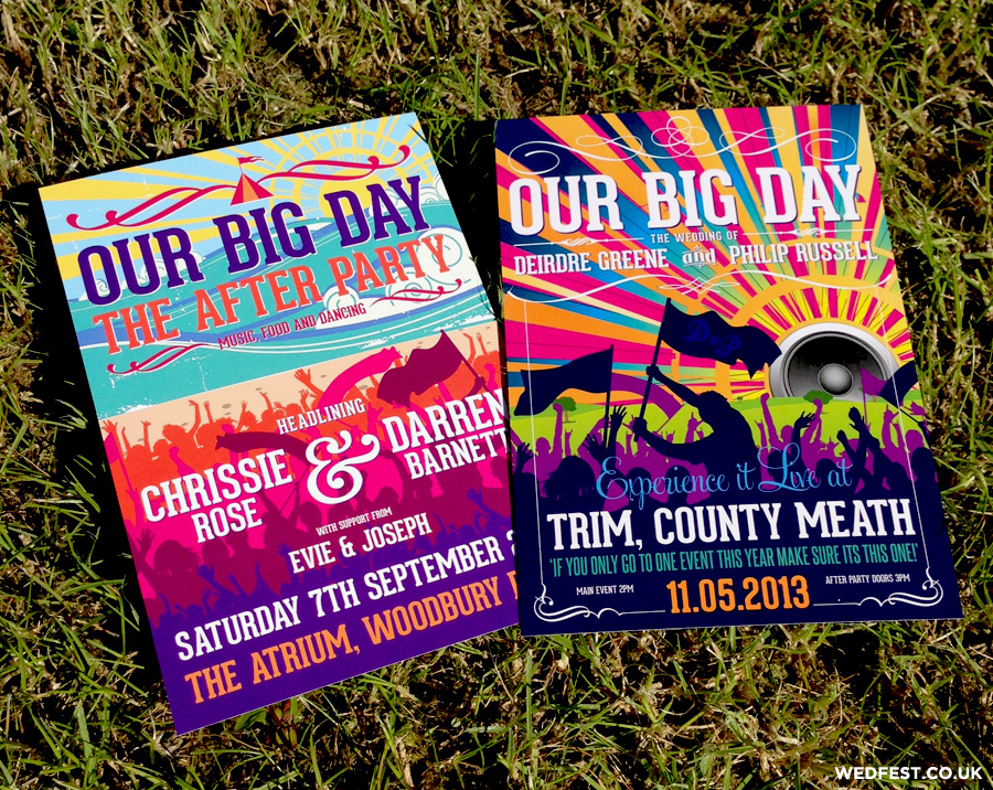 festival flyer our big day wedding invites
