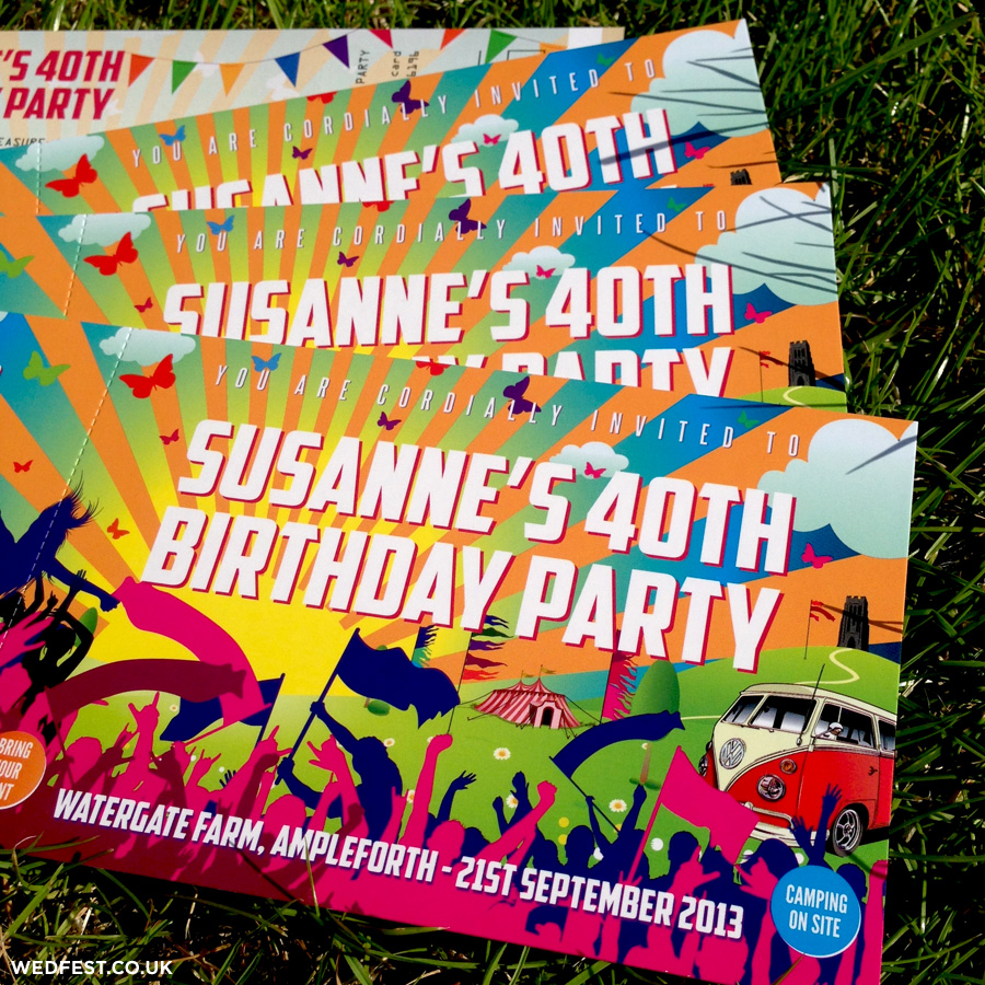 Festival Ticket Birthday Invites | WEDFEST