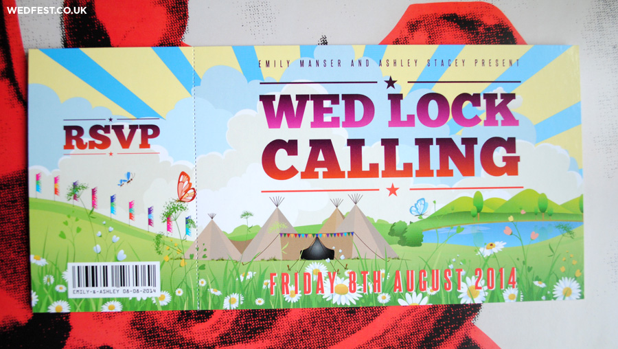 tipi tents wedding invitations