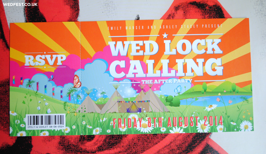 tipi themed whimsical wedding invites