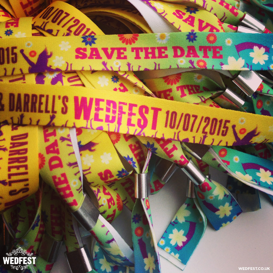 festival style wedding wristbands