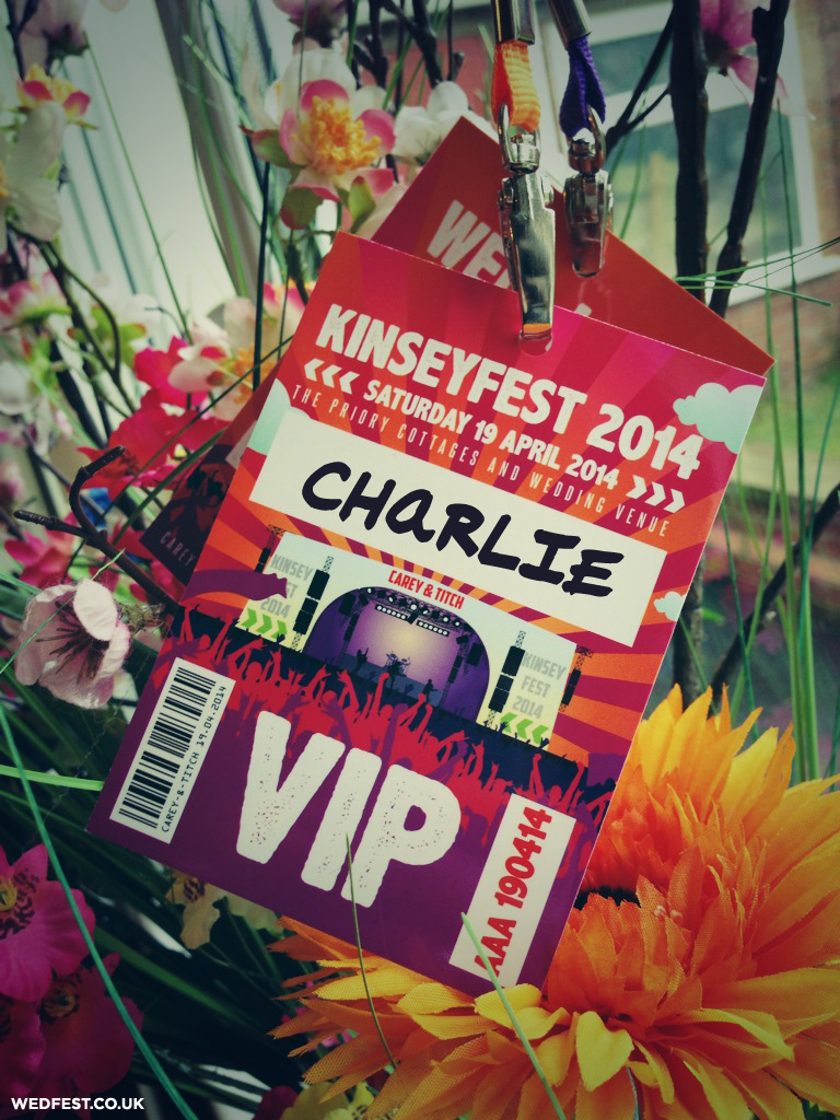 festival wedding vip pass