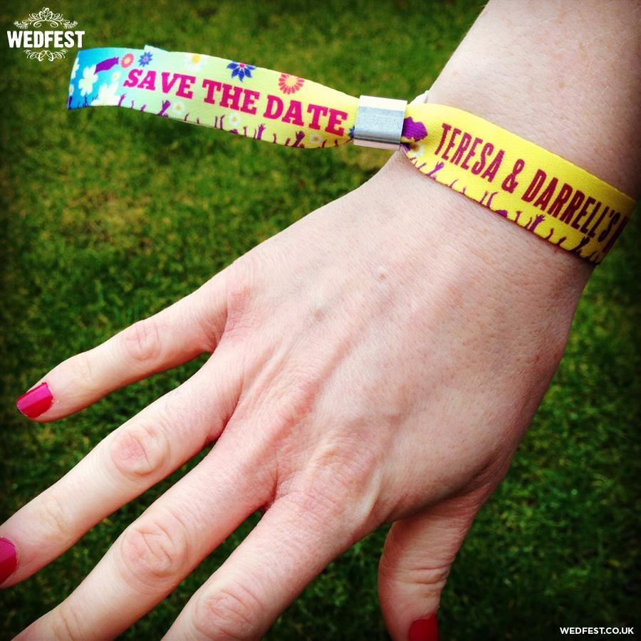 festival wedding wristbands