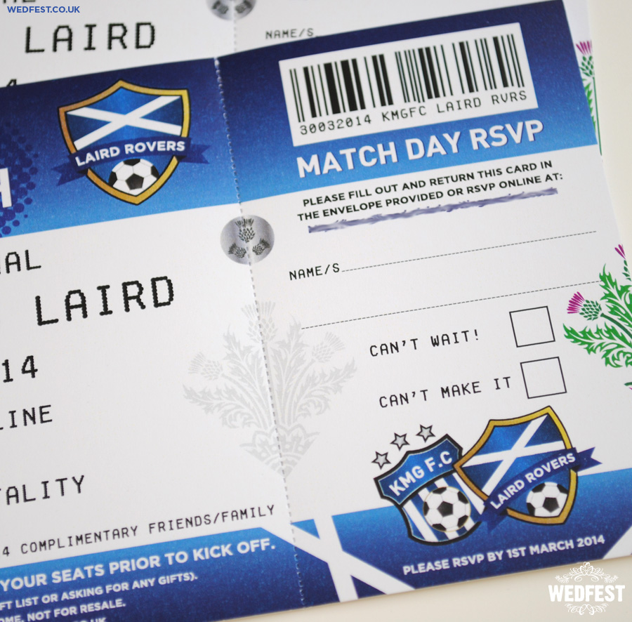 Football Ticket Wedding Invitation | WEDFEST