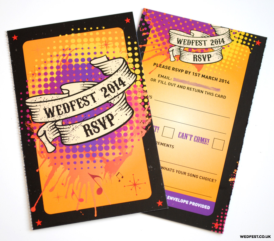 rockabilly wedding stationery