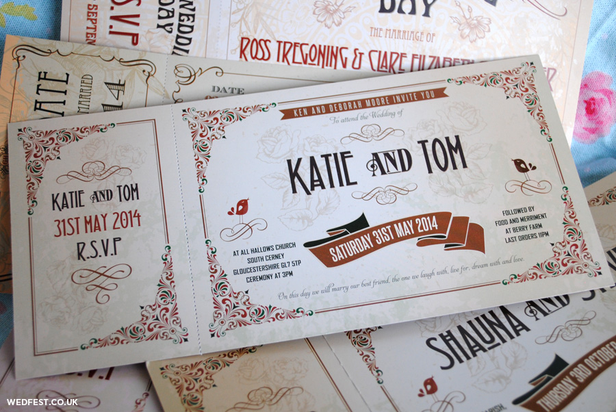 Wedding Invitation Tickets: Vintage Ticket Wedding Invitations