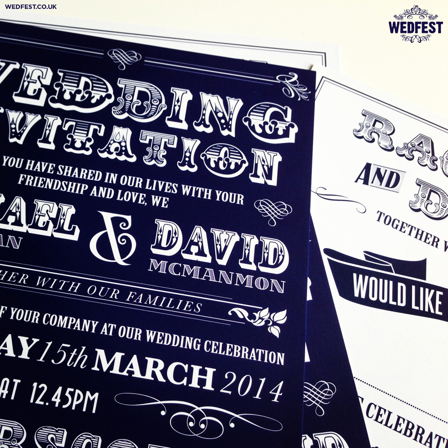 Typography Wedding Invitations | WEDFEST