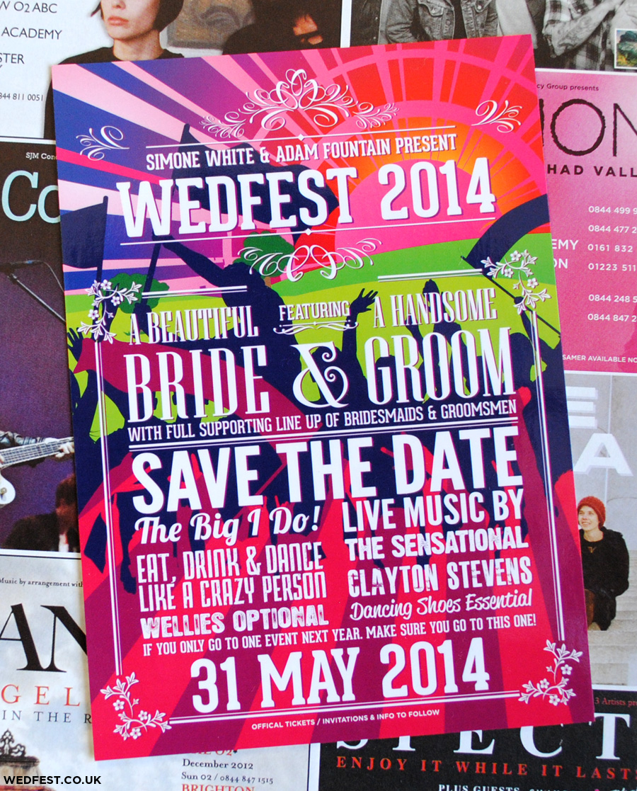 wedding festival save the date
