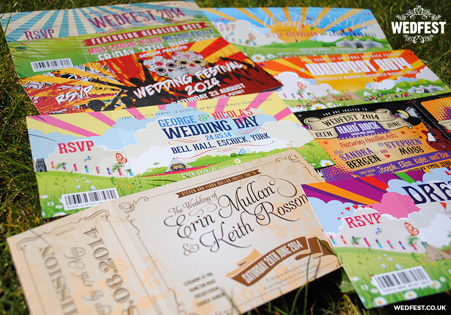 festival themed invites
