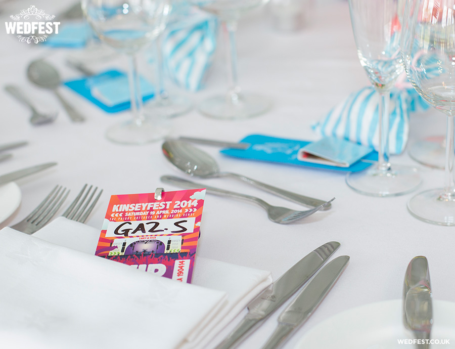 festival wedding place cards
