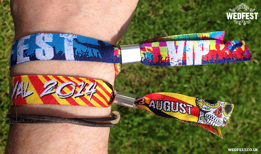vip festival wedding wristbands