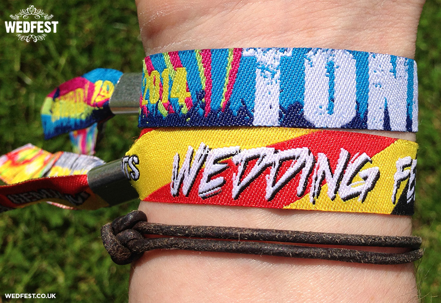 wedding festival woven wristbands