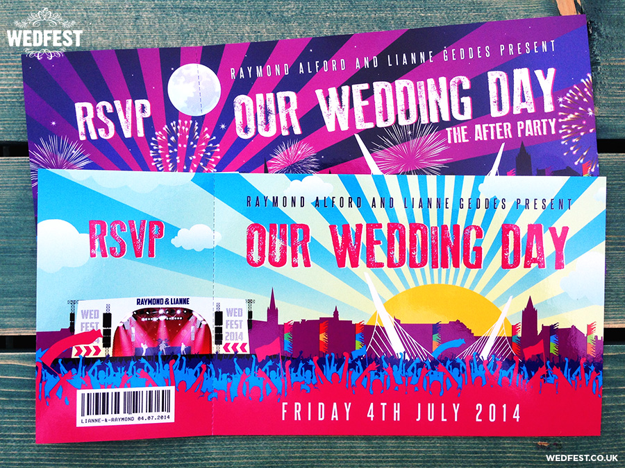 Big Weekend Festival Style Wedding Invitations