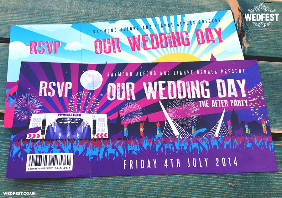 big weekend festival wedding stationery