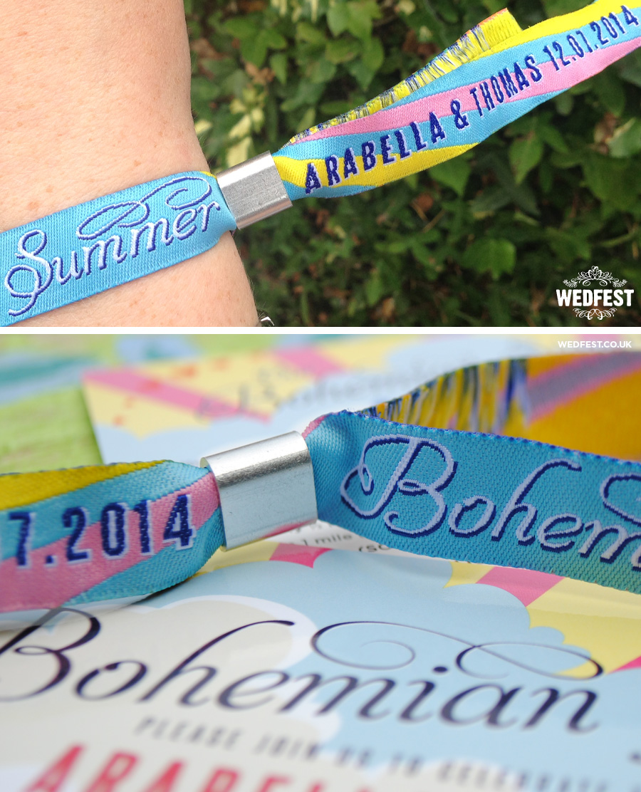 boho wedding festival wristbands