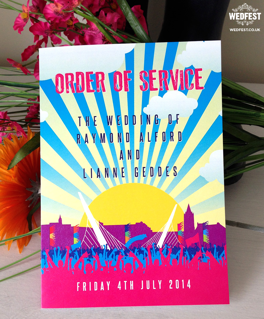 festival wedding order of service booklet