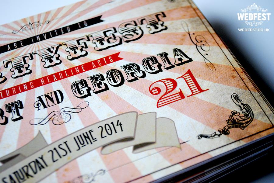 Vintage Ticket Birthday Party Invitations | WEDFEST