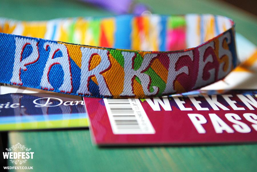parkfest festival wedding wristband