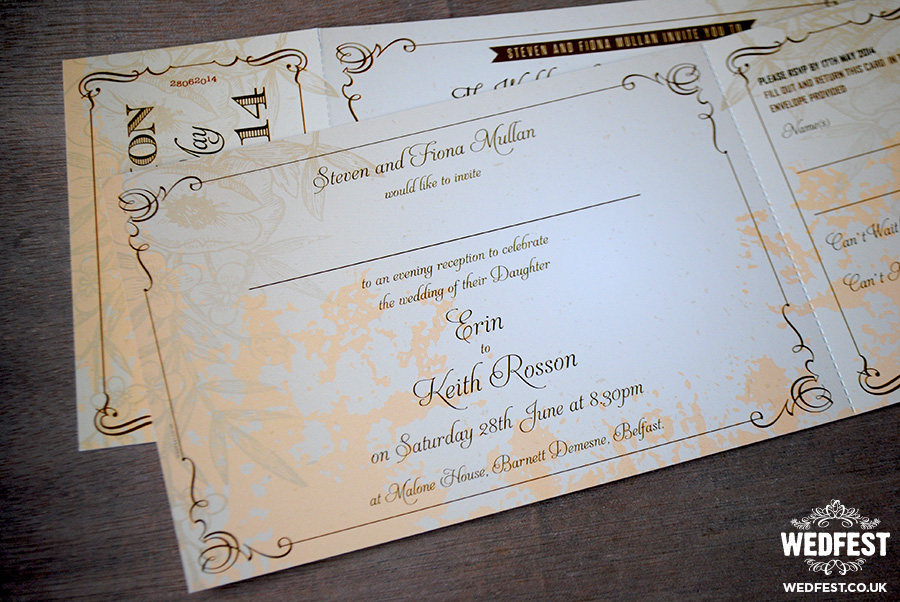 Vintage Festival Chic Wedding Invites