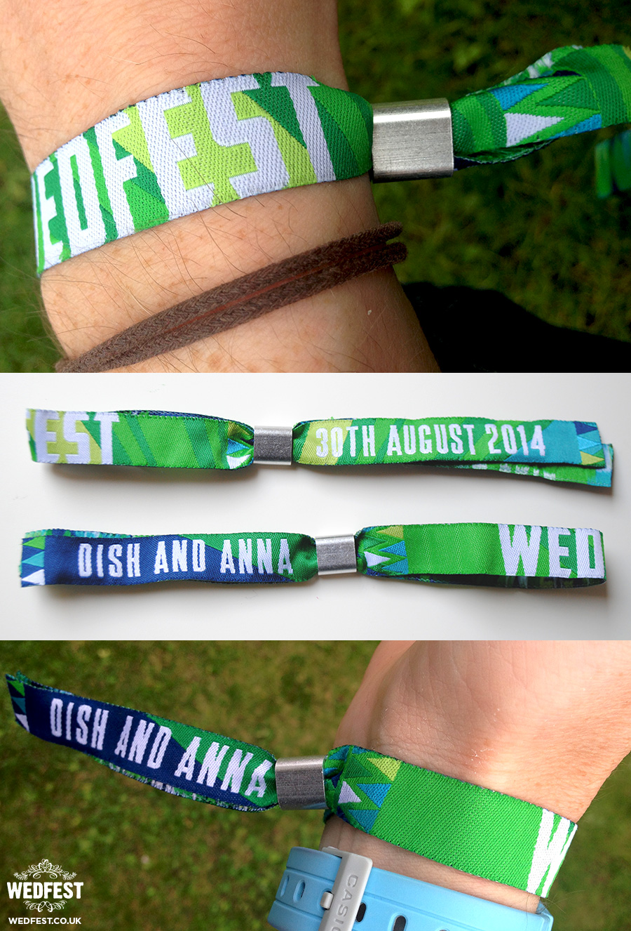 custom festival wedding wristbands