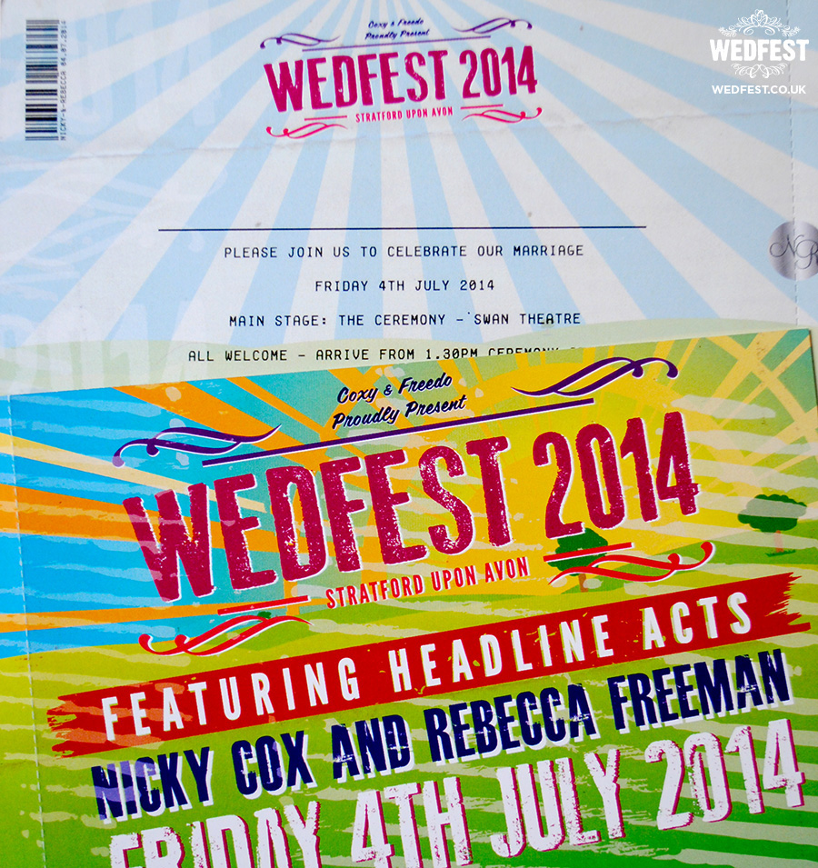 wedfest festival ticket wedding invites