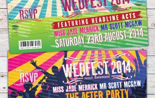 wedfest wedding invites paisley town hall renfrewshire