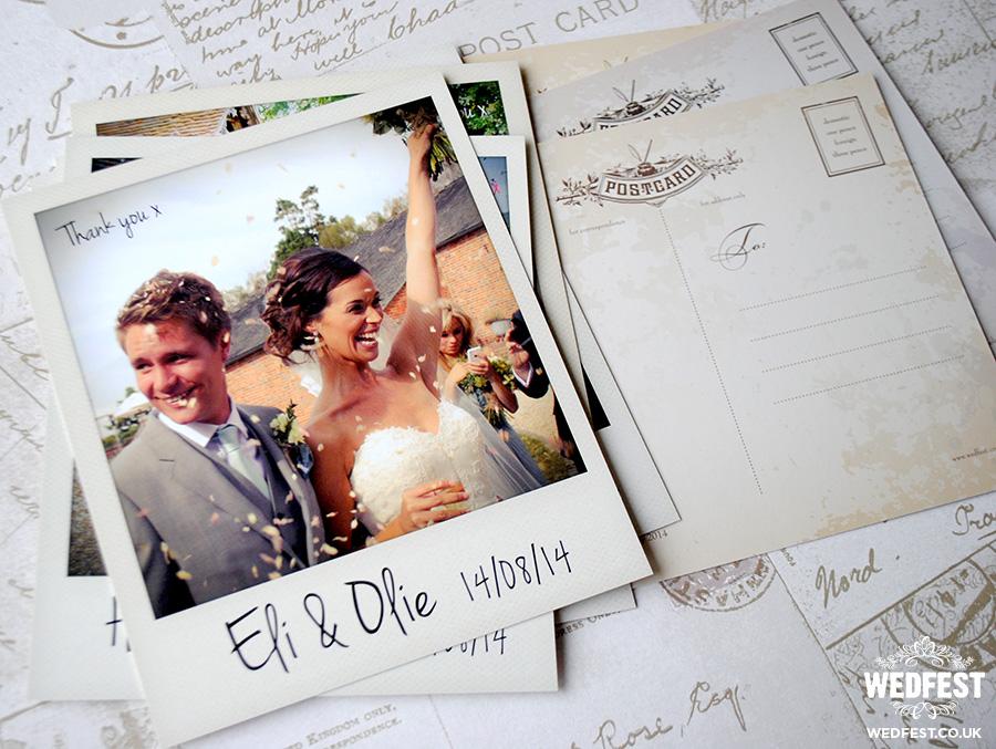 Polaroid Photo Wedding Thank You Cards – Picture Wedding Thank You Cards