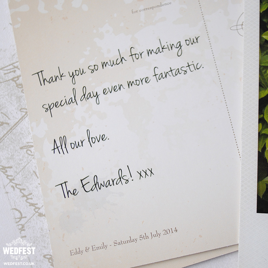 Polaroid Photo Wedding Thank You Cards – What to Put in a Wedding Thank You Card