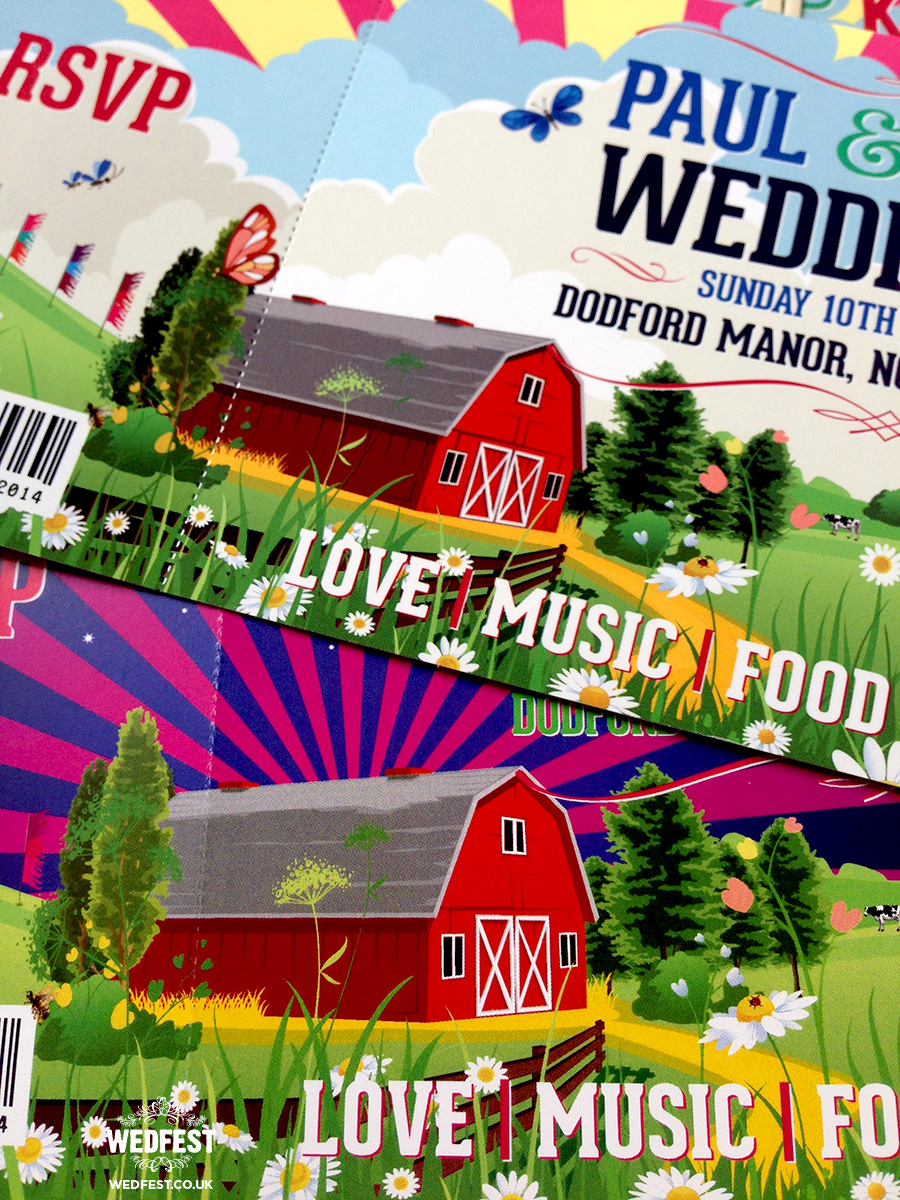 barn themed wedding invitations