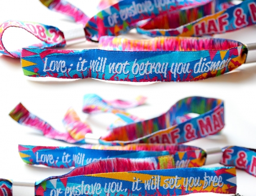 Fabric Wristbands for Events / Weddings / Parties